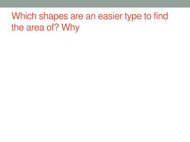 Which shapes are