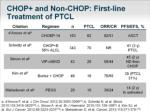 chop and non chop first line treatment of ptcl