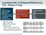 lenalidomide in relapsed refractory tcl phase 2 trial
