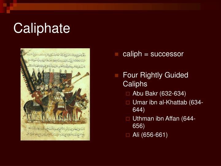caliph = successor