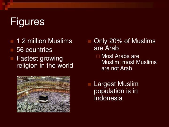 1.2 million Muslims
