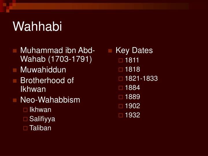 Muhammad ibn Abd-Wahab (1703-1791)
