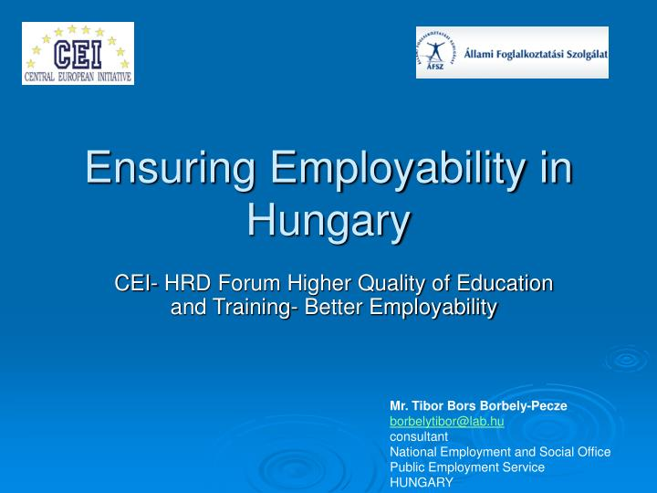 Ensuring employability in hungary