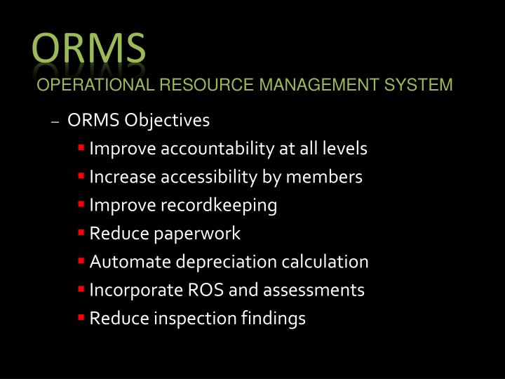 ORMS