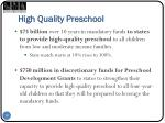 high quality preschool