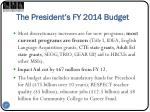 the president s fy 2014 budget1