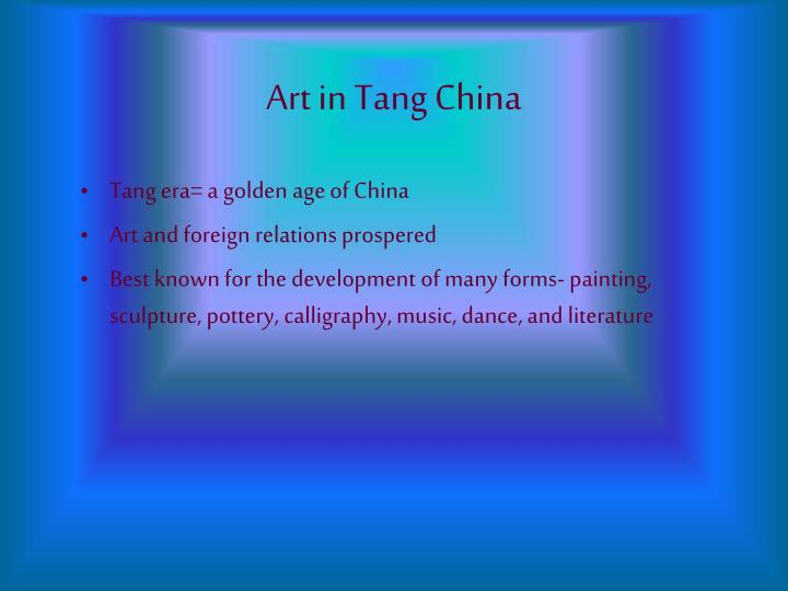 Art in tang china