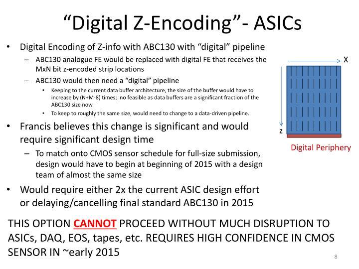 """Digital Z-Encoding""- ASICs"