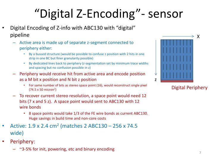 """""""Digital Z-Encoding""""- sensor"""