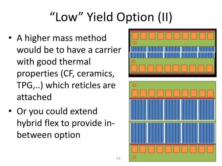 """""""Low"""" Yield Option (II)"""
