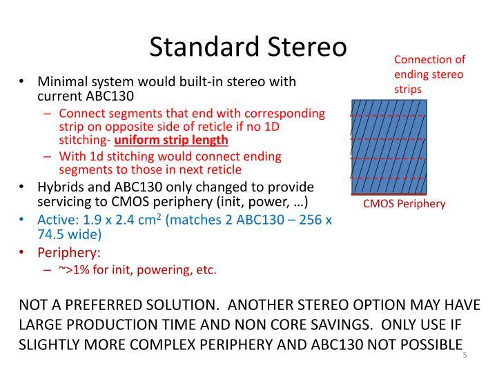 Standard Stereo