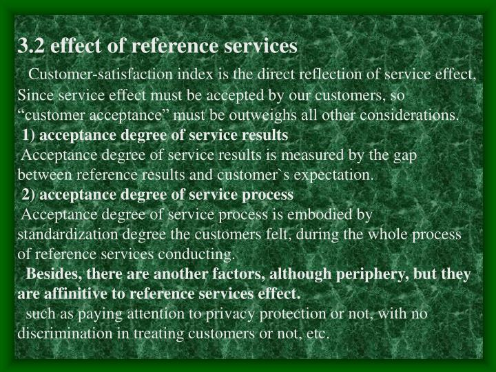 3.2 effect of reference services
