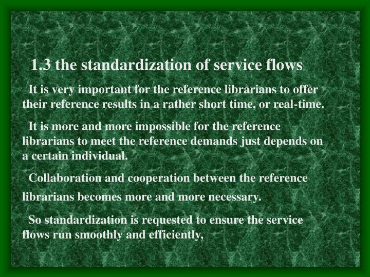 1.3 the standardization of service flows