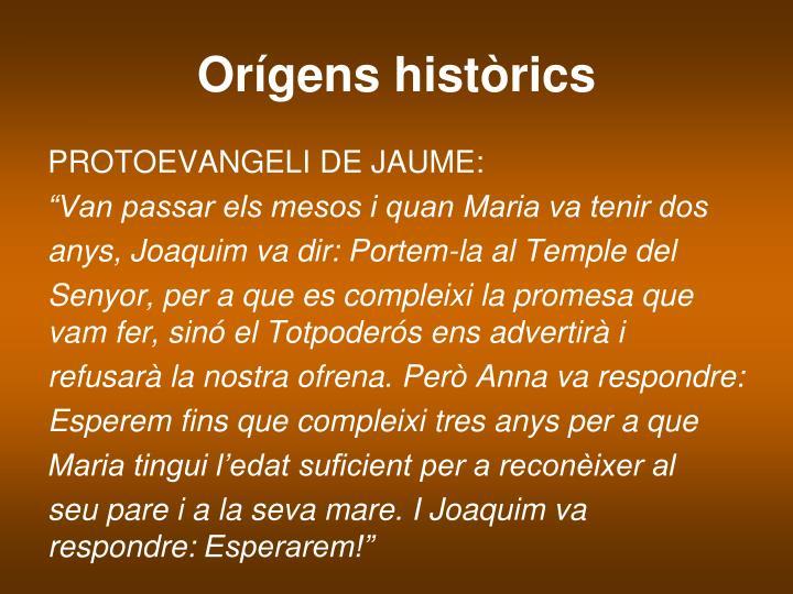 Orígens històrics
