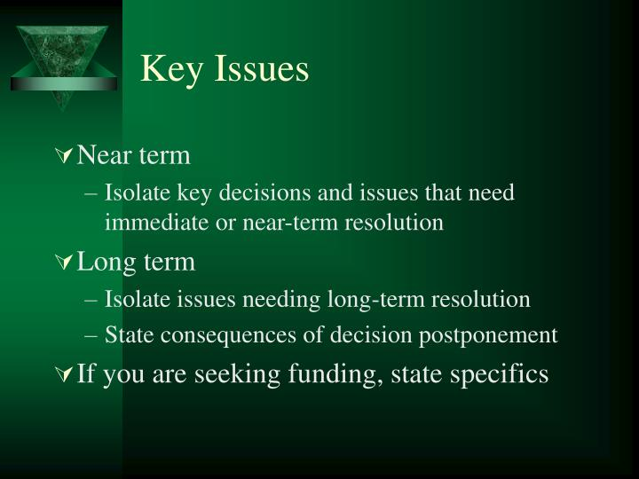 Key Issues