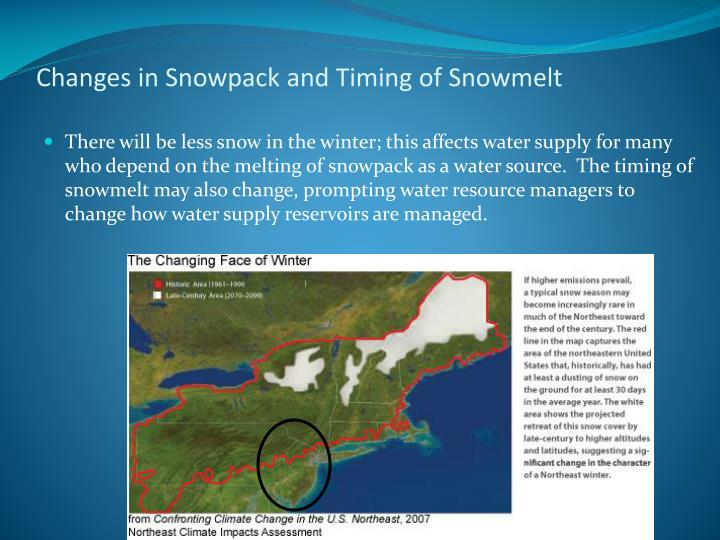 Changes in Snowpack and Timing of Snowmelt