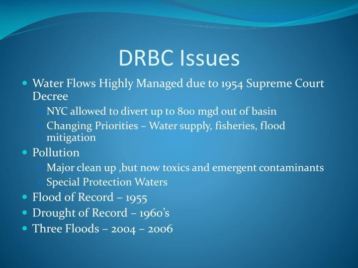DRBC Issues