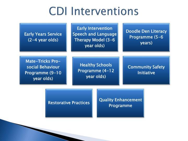 CDI Interventions