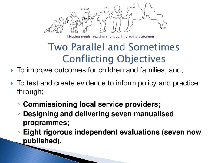 Two Parallel and Sometimes Conflicting Objectives