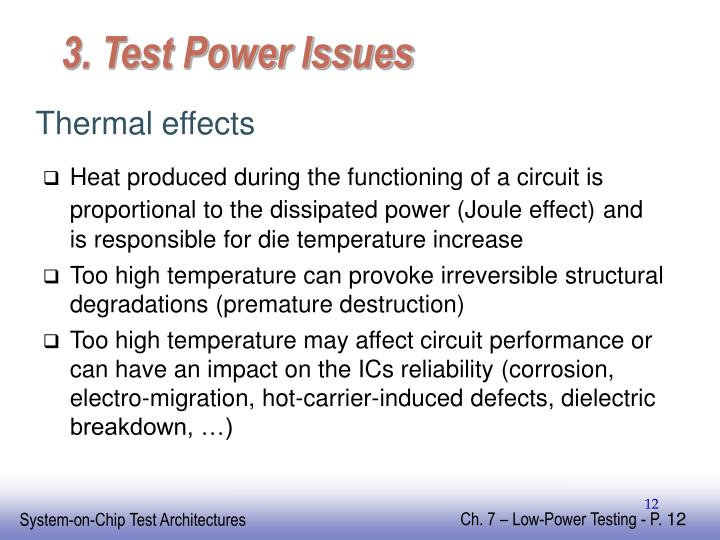3. Test Power Issues