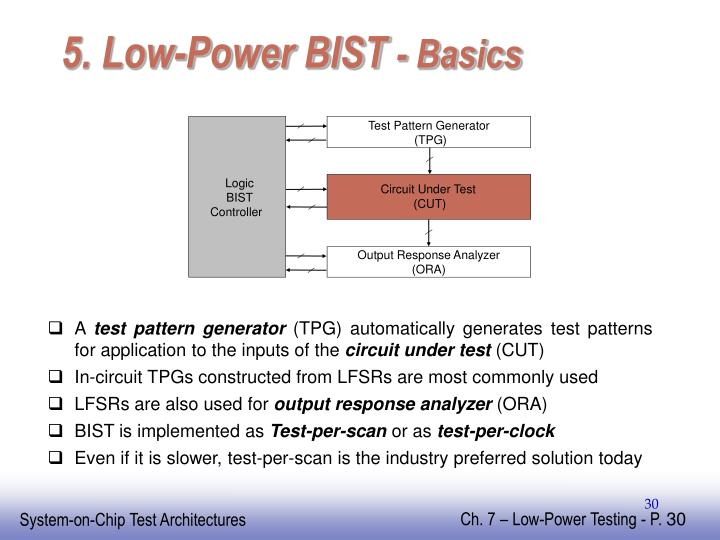 5. Low-Power BIST
