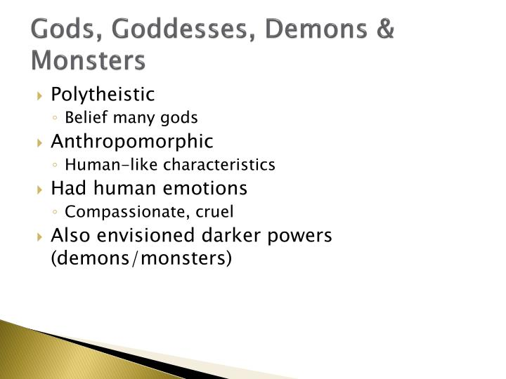Gods, Goddesses, Demons & Monsters