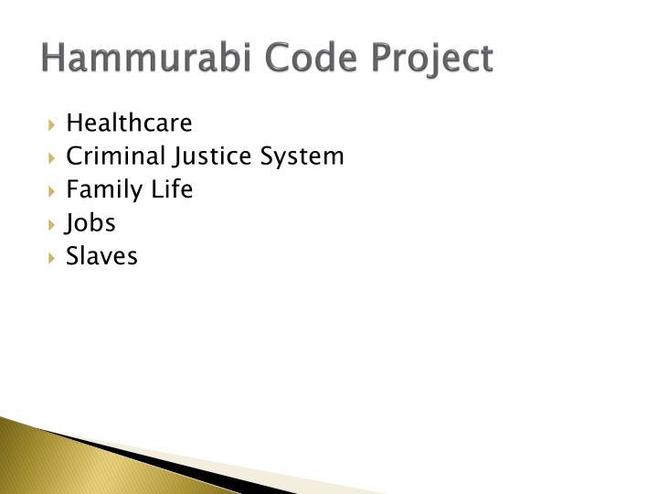 Hammurabi Code Project