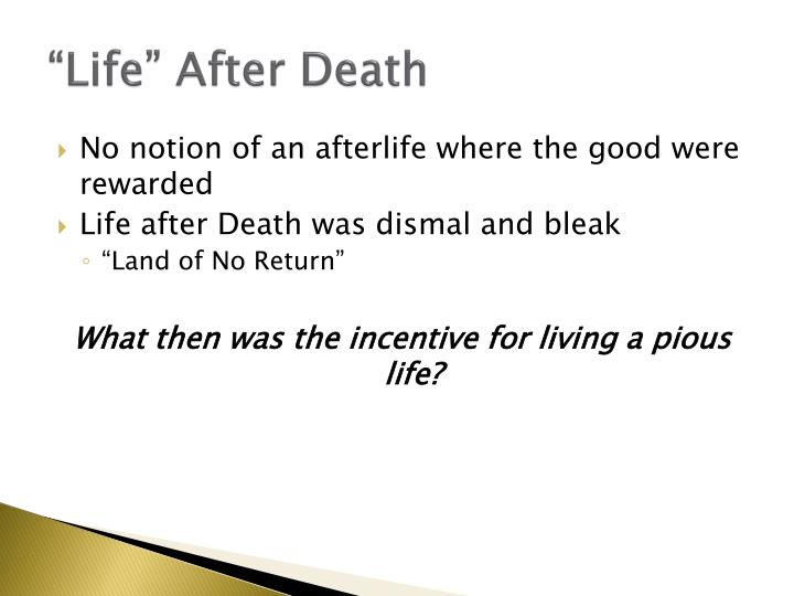 """Life"" After Death"