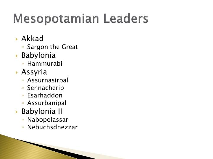 Mesopotamian Leaders