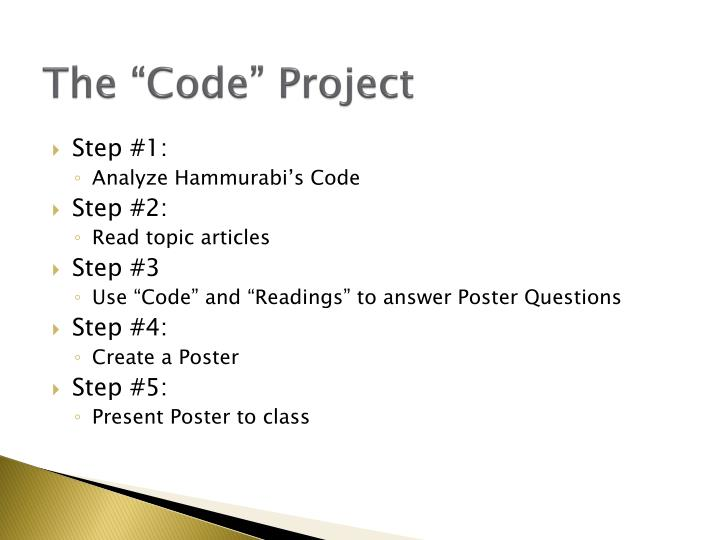 "The ""Code"" Project"