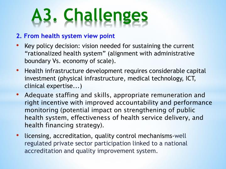 2. From health system view point