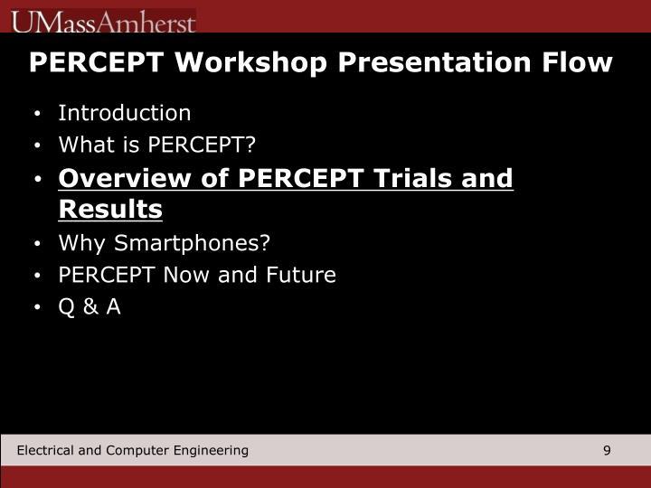 PERCEPT Workshop Presentation Flow