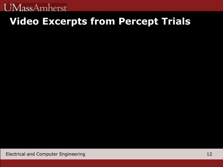 Video Excerpts from Percept Trials