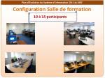 configuration salle de formation
