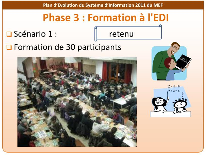 Phase 3 : Formation à l'EDI
