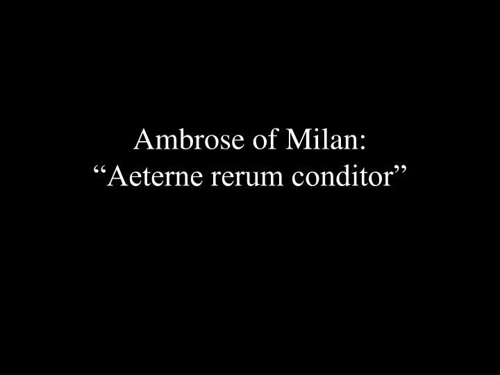 Ambrose of Milan: