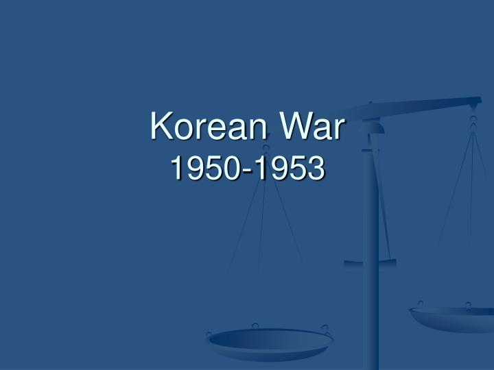 Korean war 1950 1953