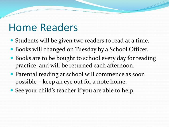 Home Readers