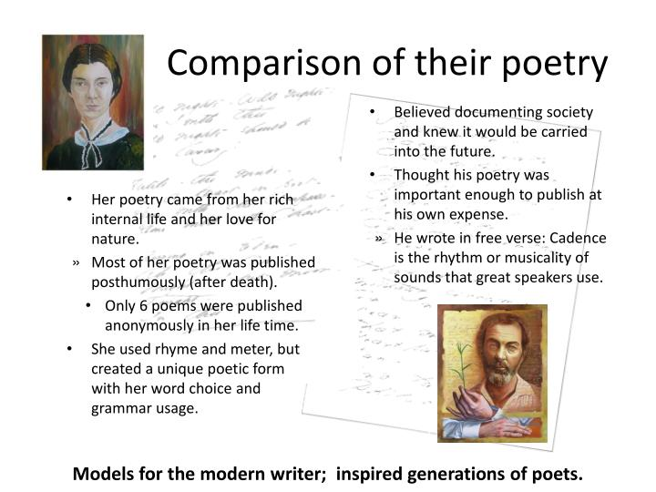 A comparison of how two poets