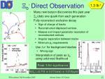 b direct observation