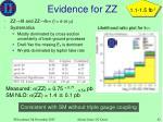 evidence for zz