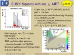susy squarks with jet h met