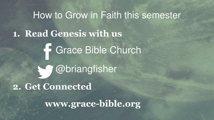 How to Grow in Faith this semester