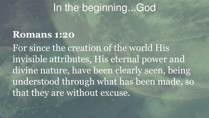 In the beginning god2