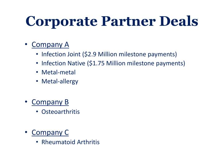 Corporate Partner Deals