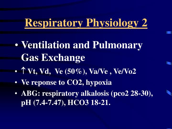 Respiratory Physiology 2