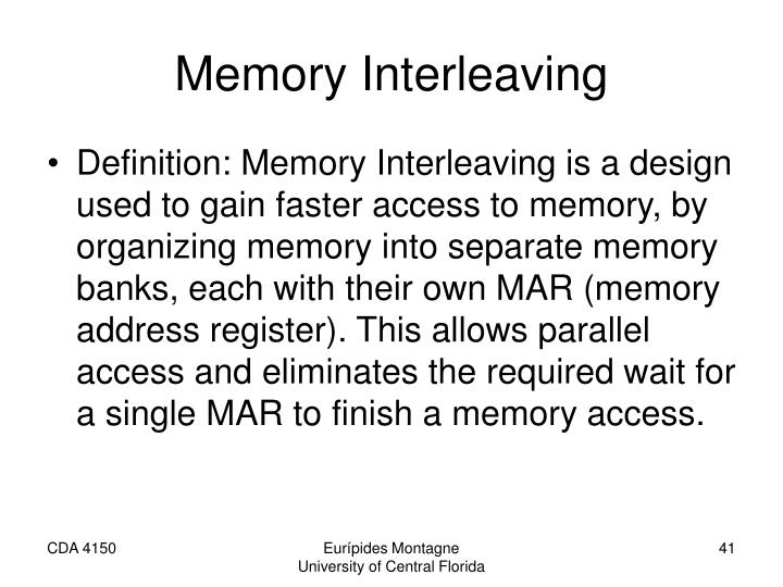 Memory Interleaving