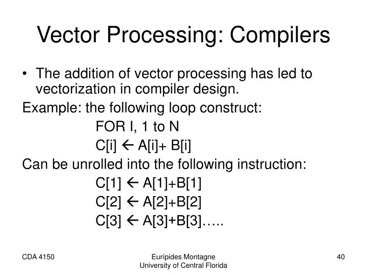 Vector Processing: Compilers