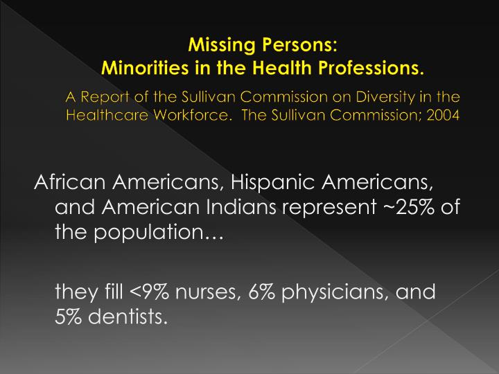 Missing Persons: