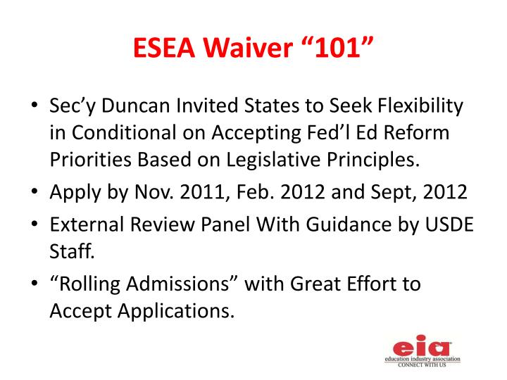 "ESEA Waiver ""101"""